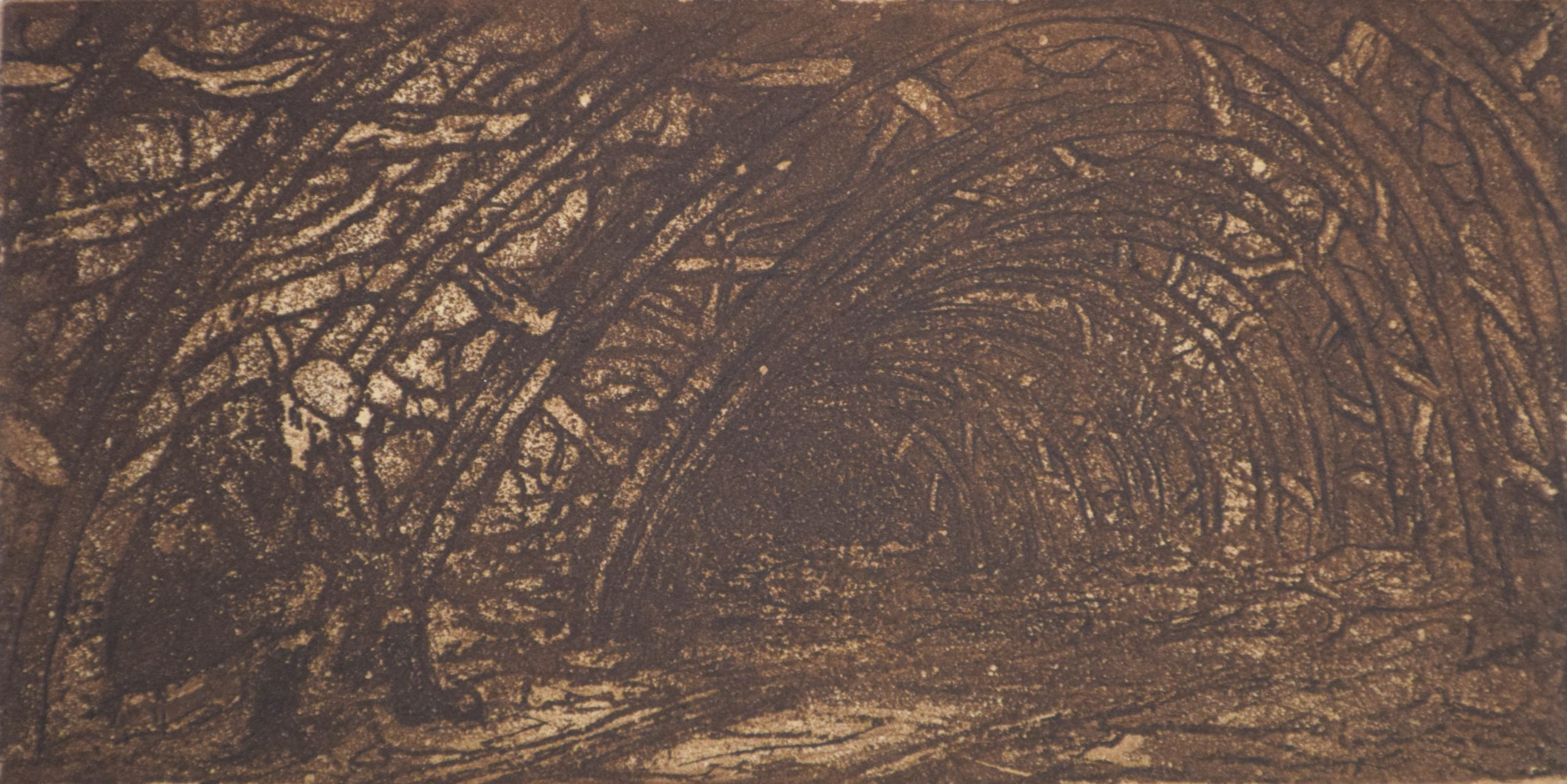 Miner in the return by Tom McGuinness, Etching