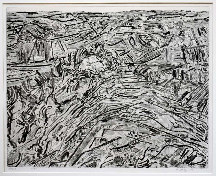 Summit with Spur by Anthony Gross CBE, Etching