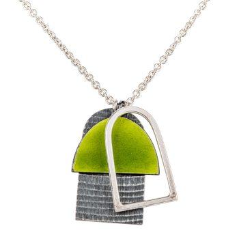 Three Shape Pendant in green by Annabet Wyndham