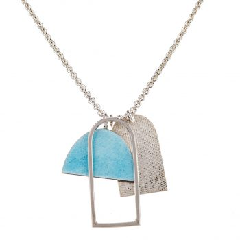 Light blue shape pendant by Annabet Wyndham