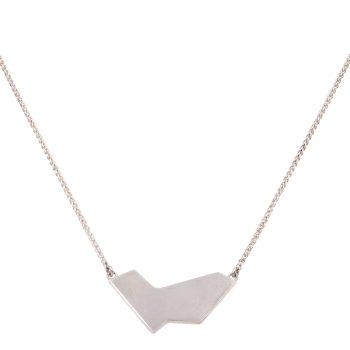 Shape Pendant by Evie Leach, Silver