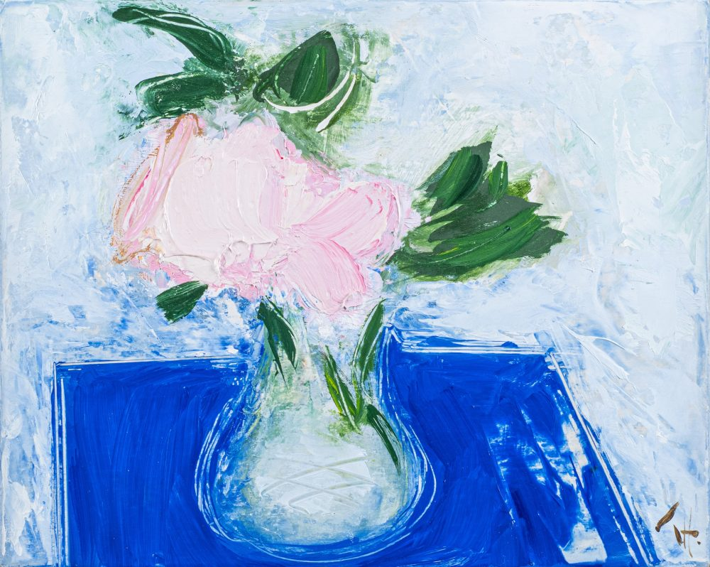 Pink Rose by George Hainsworth, oil