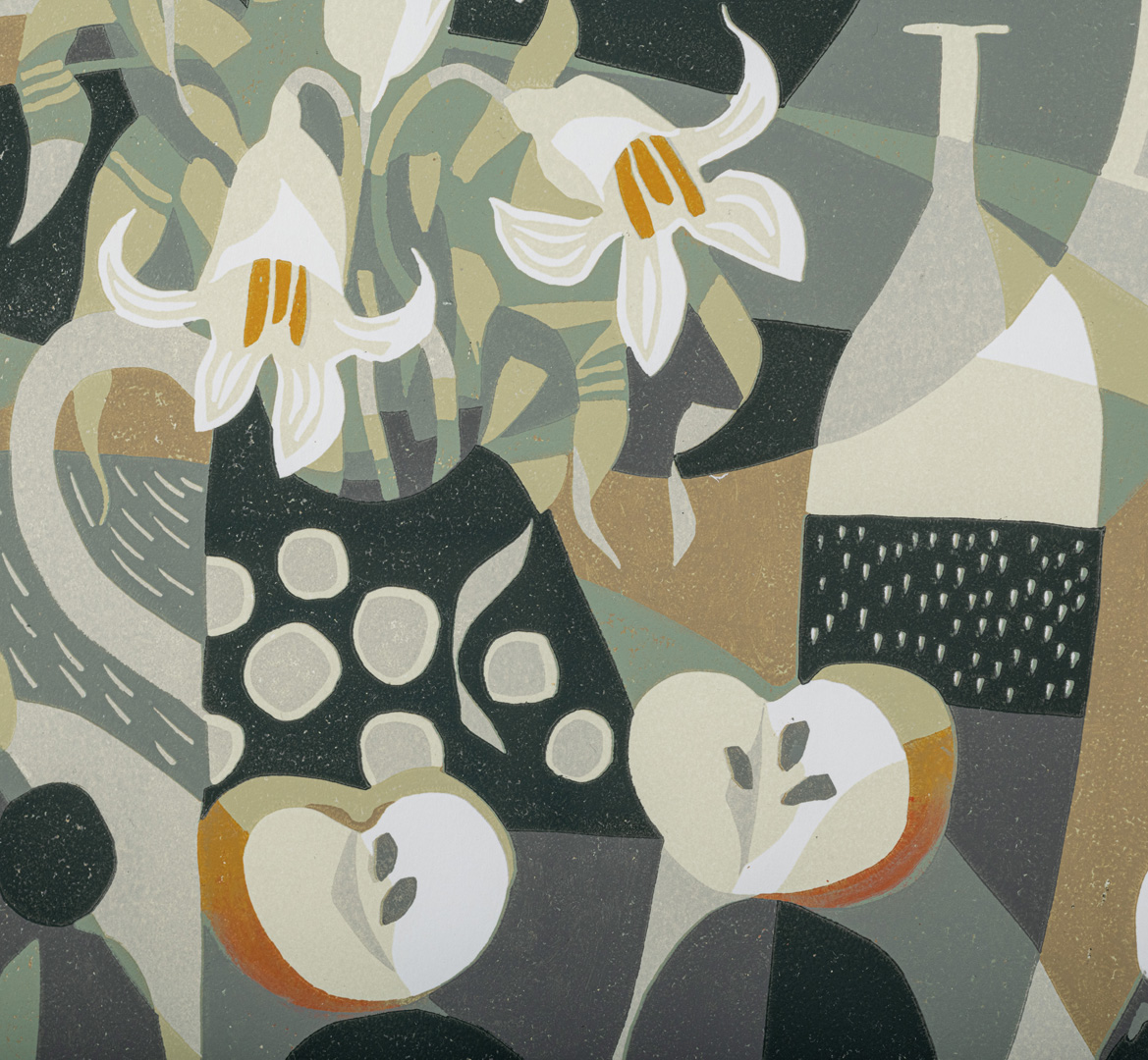 Detail of Apples and Lilies by Jane Walker