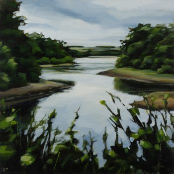 Fewston Reservoir by Kirsty Whyatt, Acrylic on birch