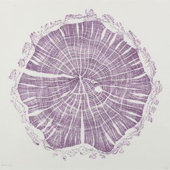 Damson purple by Shona Branigan, Relief print