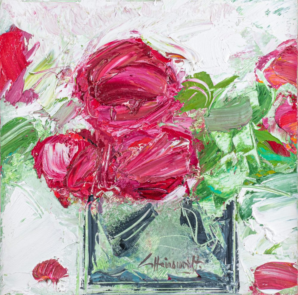 Kate's Roses by George Hainsworth, Oil on board