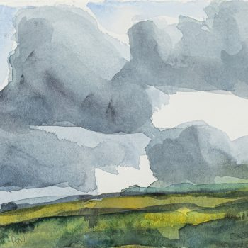 Clouds 3 by Robert Newton, Watercolour