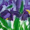 Detail of Irises by George Hainsworth, Oil on board, Framed