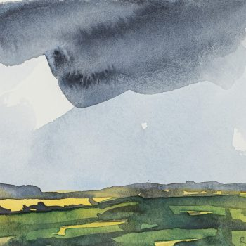 Clouds 2 by Robert Newton, Watercolour