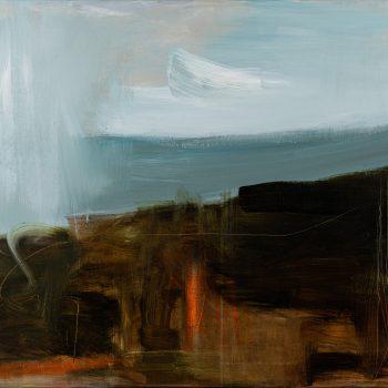 Rain Sky Over Fell by Jill Campbell, Acrylic on canvas