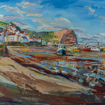 Staithes by Emma Holliday, Acrylic on board