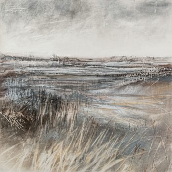 Whisper Tales of Winter II by Janine Baldwin PS, Pastel, charcoal and graphite