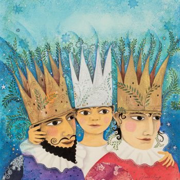 Orla and His Parents by Jane Ray, Mixed media