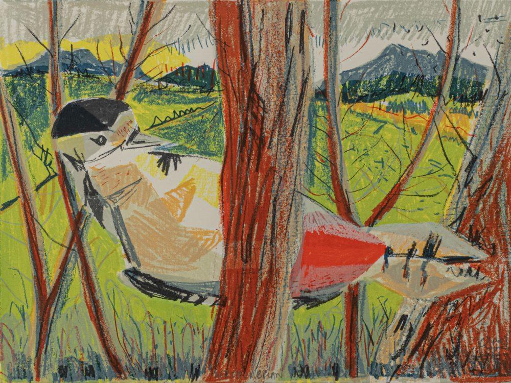 Northumbrian Woodpecker by Kittie Jones, Screen-print