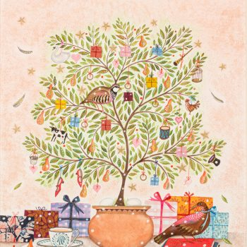 Partridge in a Pear Tree by Jane Ray, mixed media