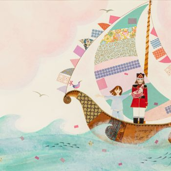 A Boat with Silken Sails by Jane Ray, mixed media