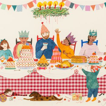 The Christmas Feast by Jane Ray, mixed media