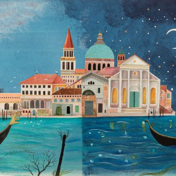 A City Built on Water by Jane Ray, mixed media