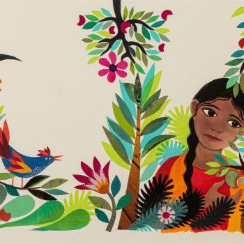 Jasmine in her Garden by Jane Ray, mixed media