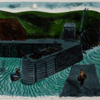 The Evening Time Porthgain by Bernard Cheese RE, Lithograph