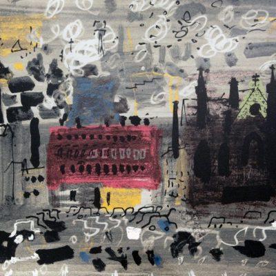 Halifax by John Piper, Screen-print