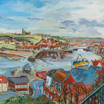 Whitby Harbour by Emma Holliday, Acrylic