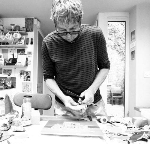 Colin Black Artist in his studio