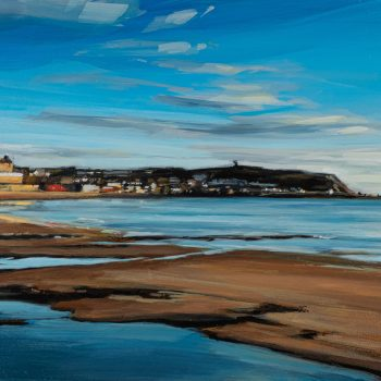 Scarborough Sunrise by Kirsty Whyatt, Acrylic on birch