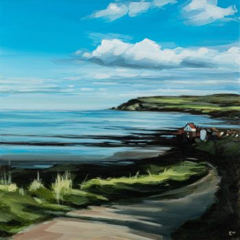 Robin Hood's Bay by Kirsty Whyatt, Acrylic on birch