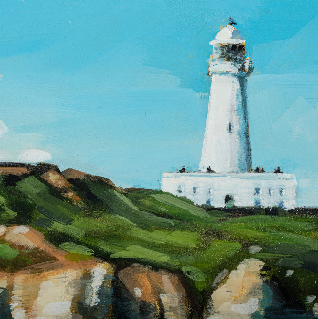 Detail of Flamborough Lighthouse by Kirsty Whyatt