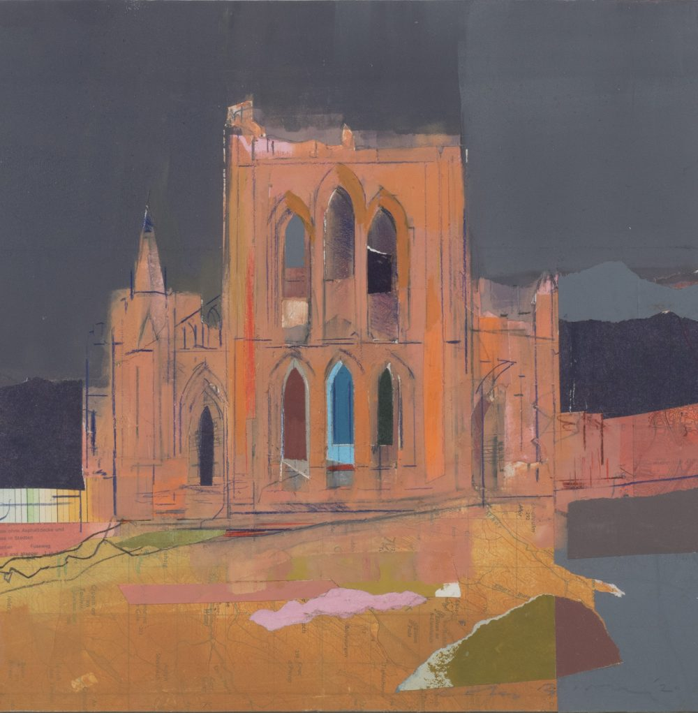 Reivaulx Abbey Warm Evening by Colin Black in mixed media