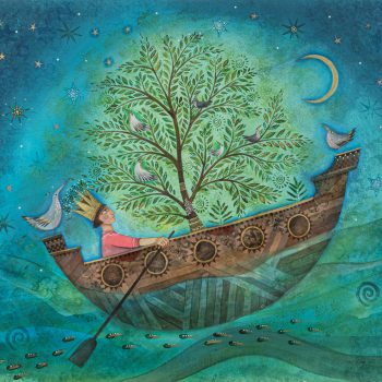 Guided by Birds and Stars by Jane Ray, mixed media