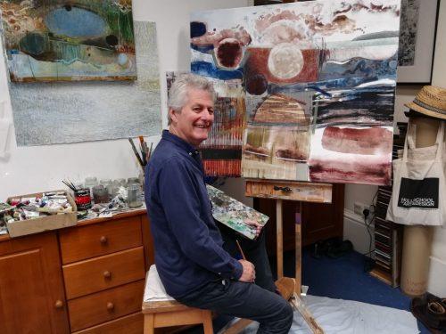 Rob Moore in his studio