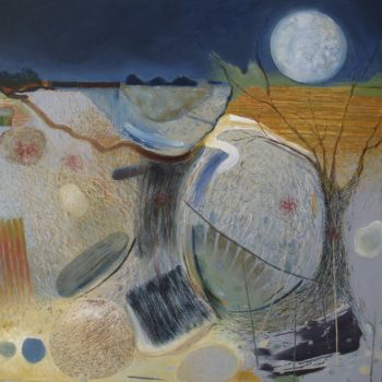 Moonscape Oil on Canvas by Rob Moore