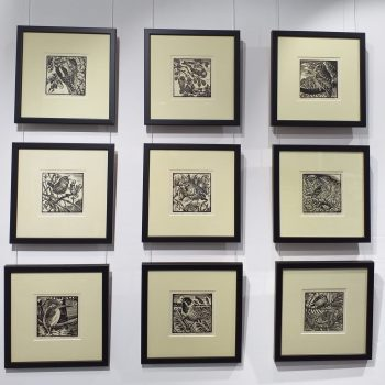 Set of Nine Limited Edition Linocut Prints by Richard Allen