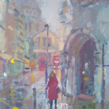 St Paul's Oil on Panel Painting by Andrew Farmer