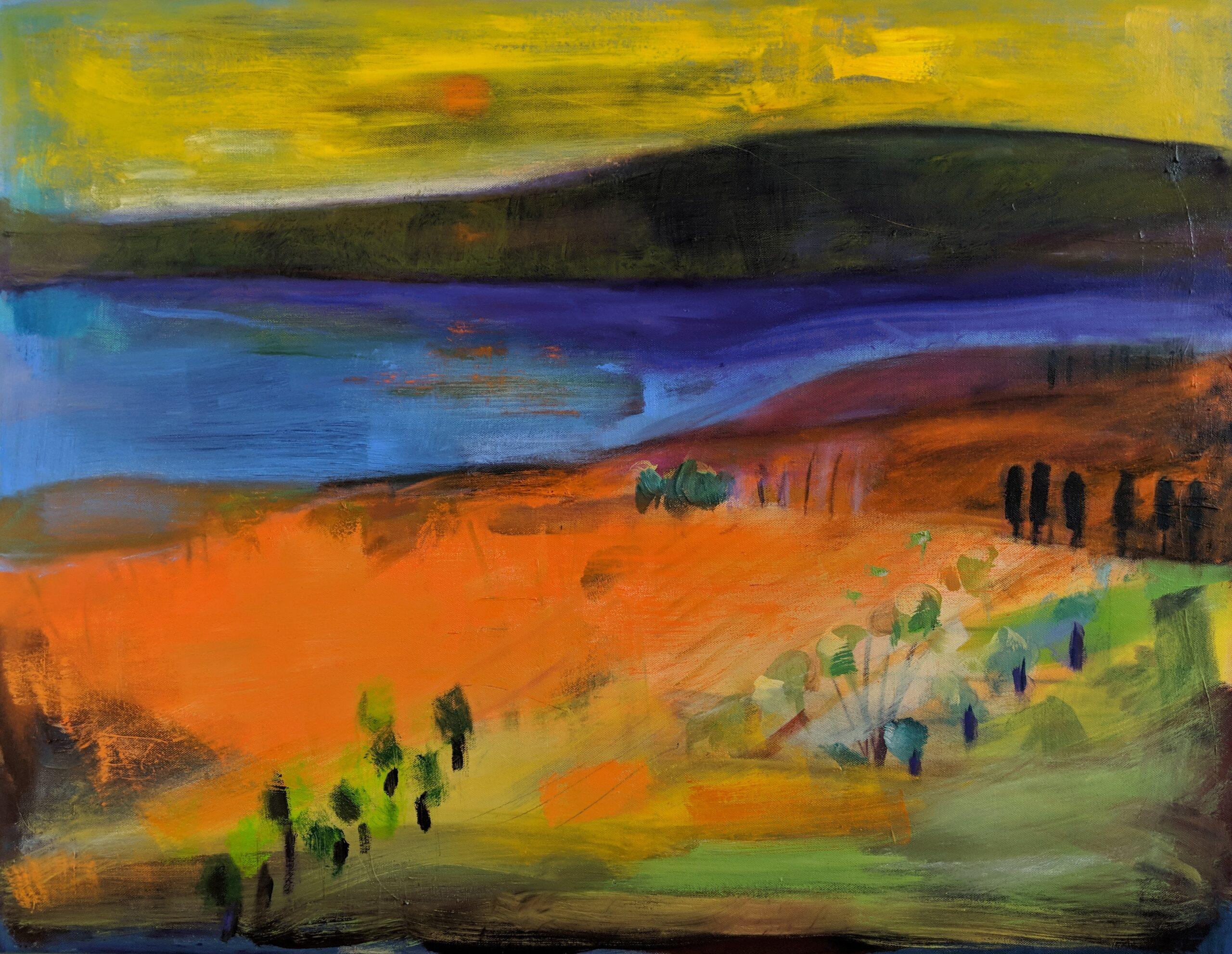 Almeria Oil on Canvas Louise Davies RE
