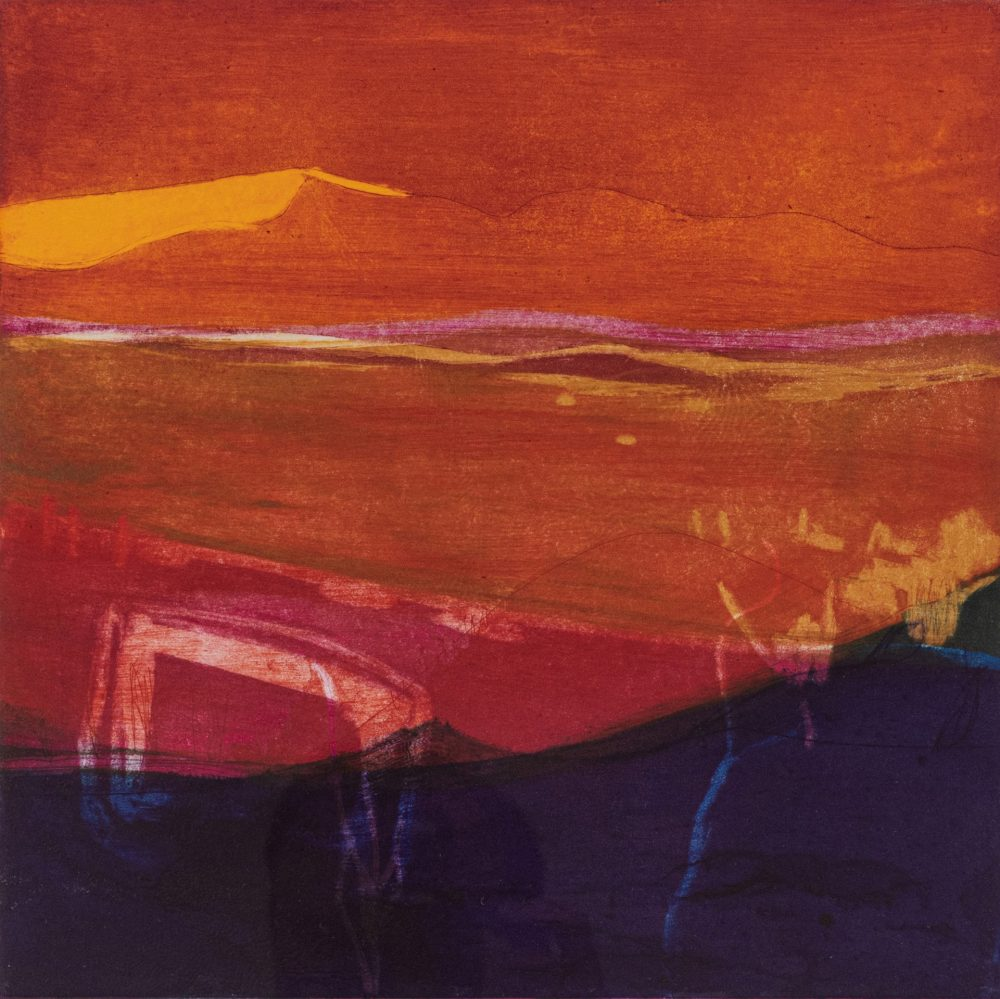 Summer Heat by Louise Davies, Etching
