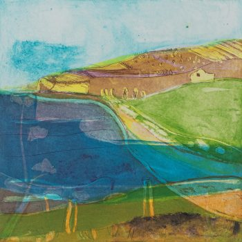 By The Sea by Louise Davies, Etching and Collagraph