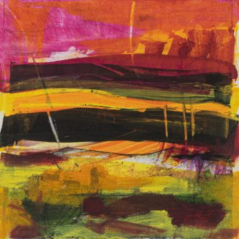Summer, The Four Seasons by Louise Davies RE, Monoprint