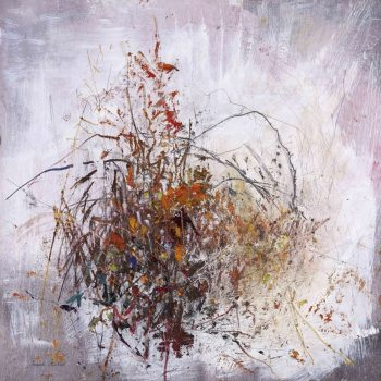 Autumn Hedgerow, Mixed Media on Board by Pascale Rentsch