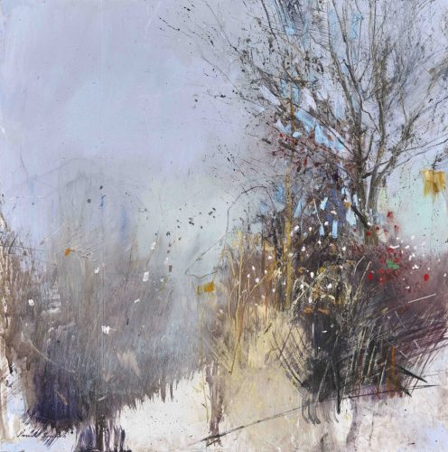 When the Winter Sun makes the Colours Dance, Mixed Media by Pascale Rentsch