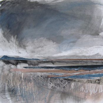 Squall II by Janine Baldwin, Pastel, charcoal and graphite collage