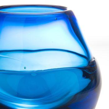 Candleholder, Handblown Glass by Elin Isaksson