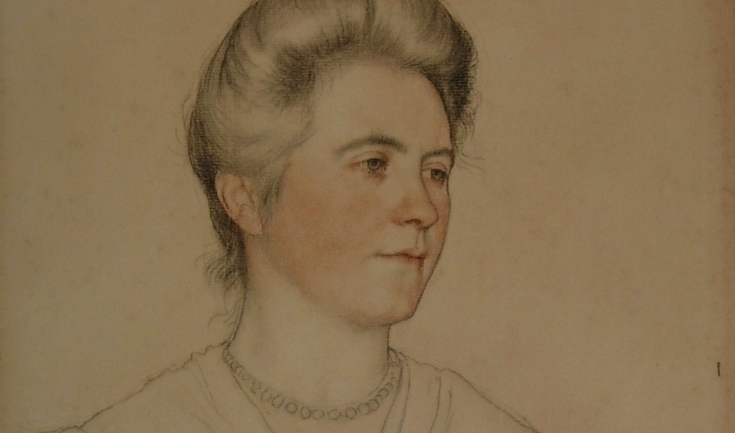William Strang Portrait of Mrs Waynman Dixon after conservation