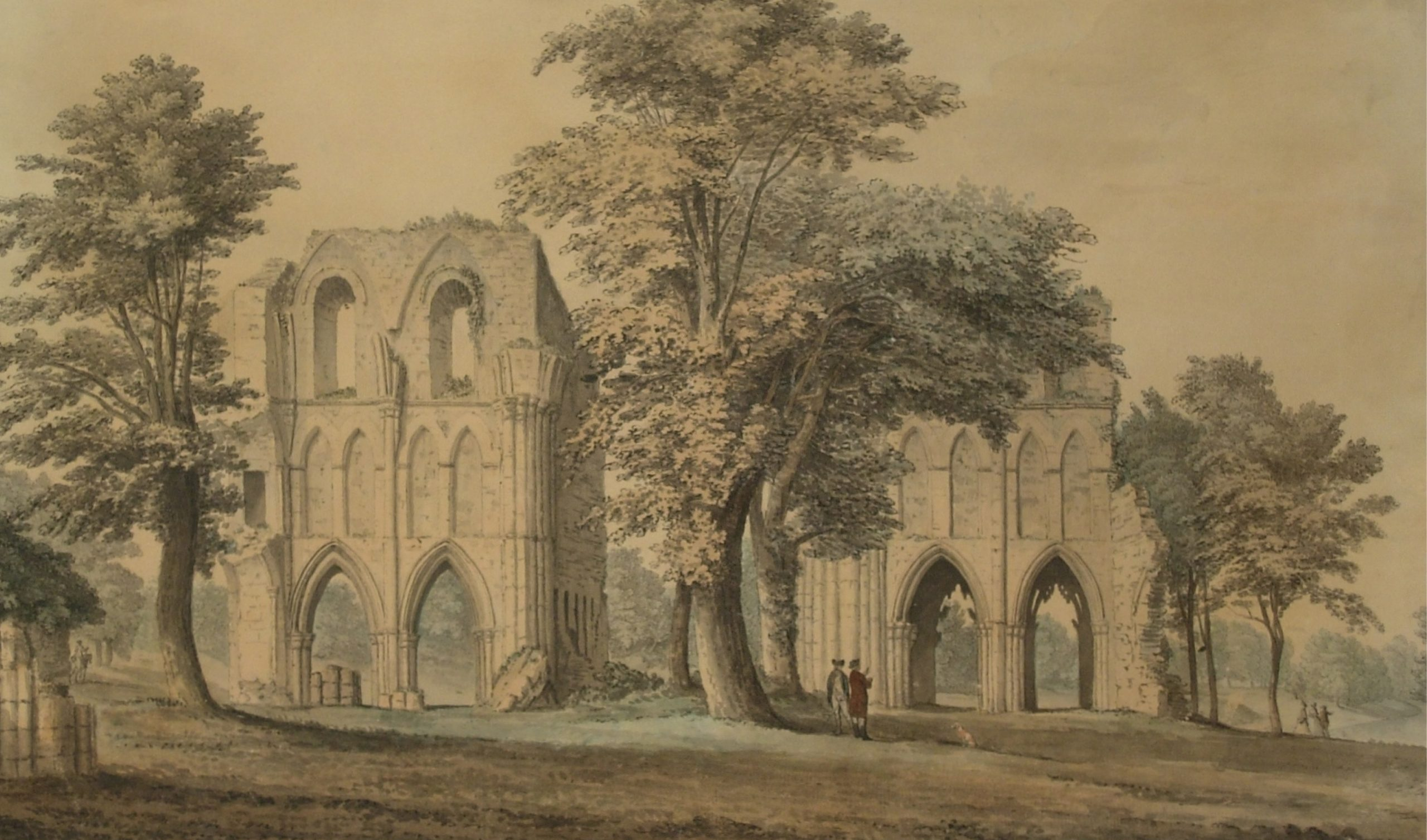 S H Grimm, Roche Abbey, before conservation