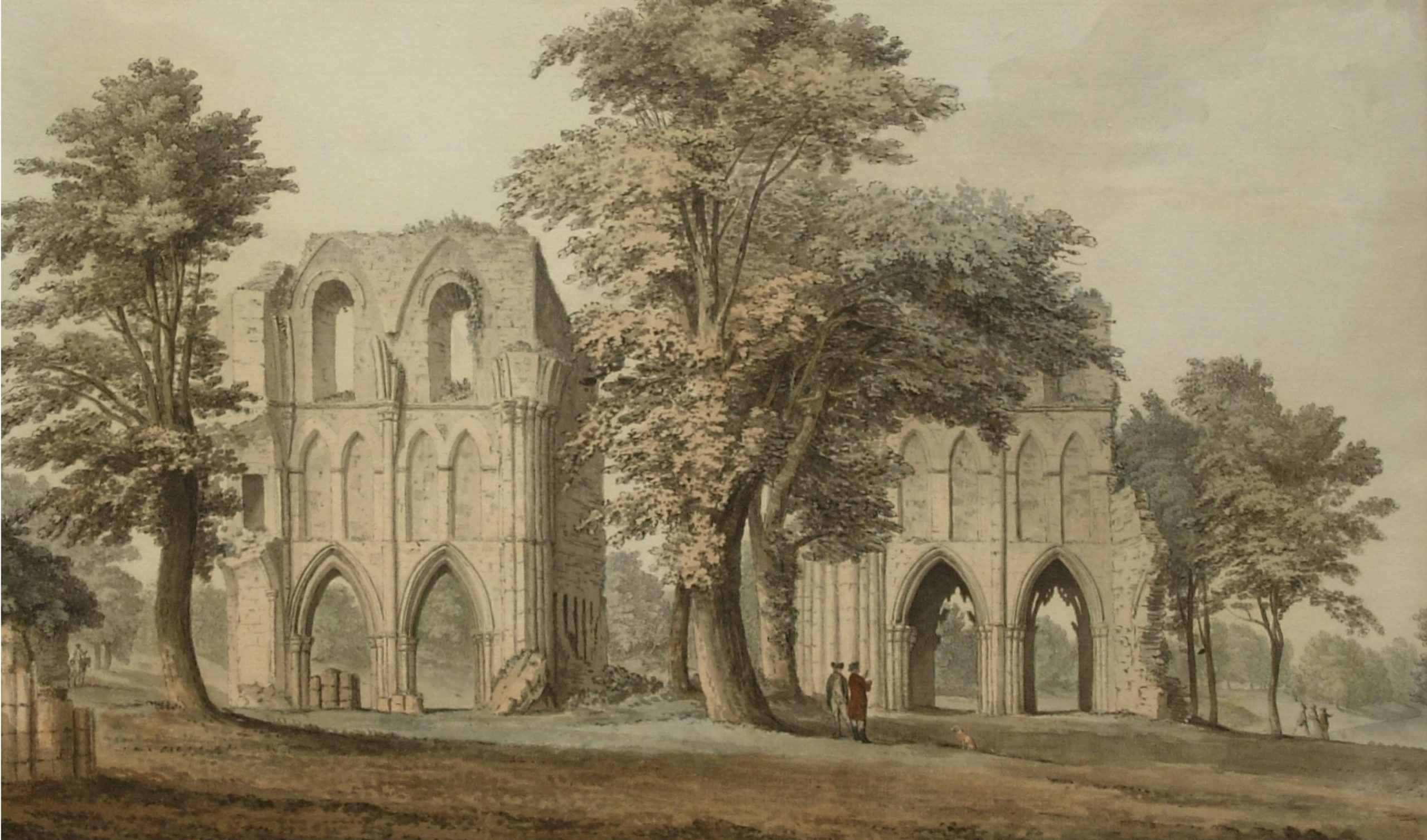 S H Grimm, Roche Abbey, after conservation