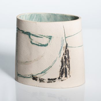 Open Earth by Louise McNiff, slip decorated stoneware