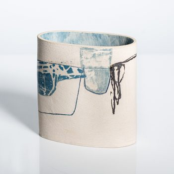 Fell View by Louise McNiff, Slip decorated stoneware