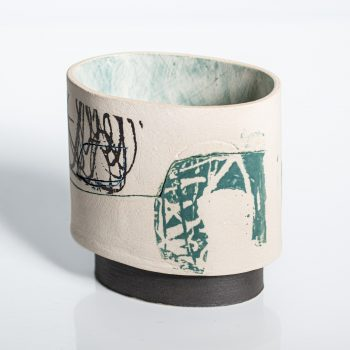 First Light by Louise McNiff, Slip decorated stoneware